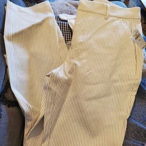 Gap Signature Skinny Ankle Pants Off White Striped